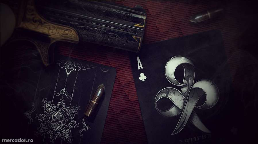 Carti de joc Black Artifice Ellusionist editie limitata colectie