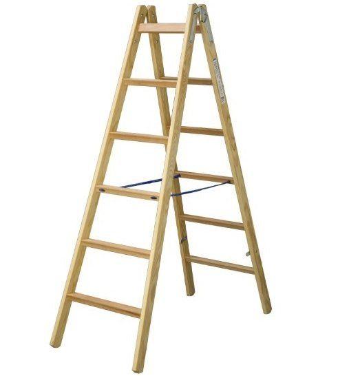 """Двустранна дървена стълба - тип """"бояджийска"""""""