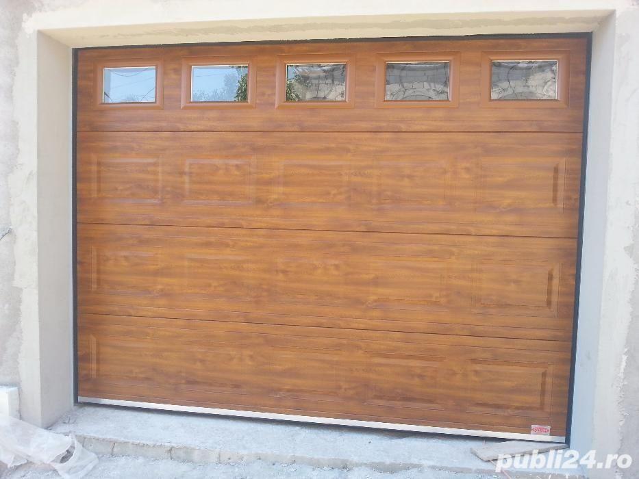 Uși de garaj rezidențiale izolate 2500L/2500H Stejar Auriu-model caset