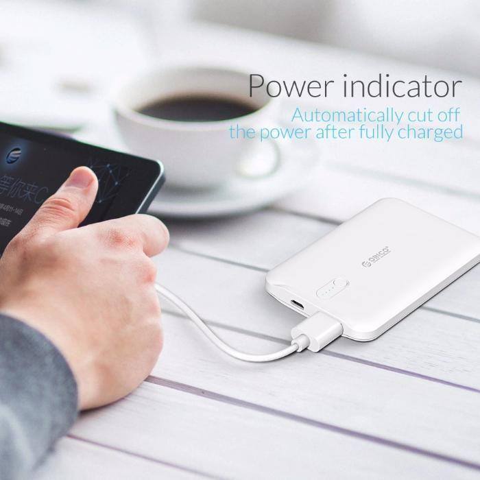 Acumulator extern / baterie externă - Orico 2500 mAh - subtire, usoara
