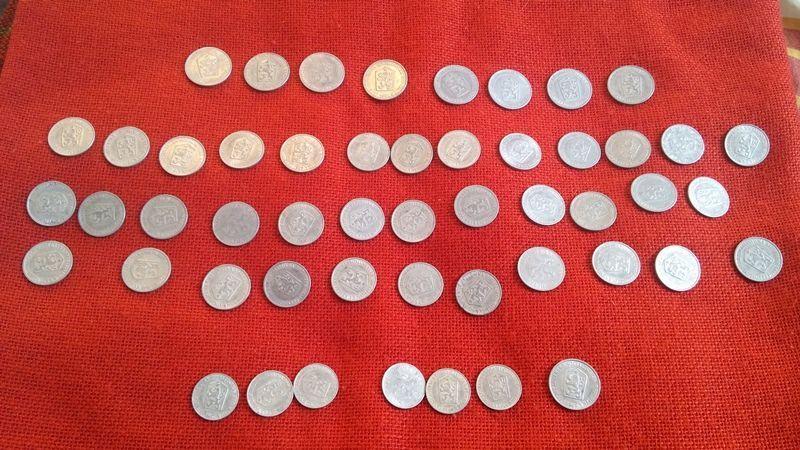 Чешки монети, 51 броя, емисии от 1962г. до 1969г., много запазени гр. Варна - image 8