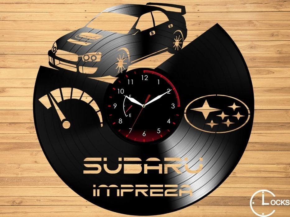 Ceas de perete din vinil Subaru Impreza | retro stil modern disc casa