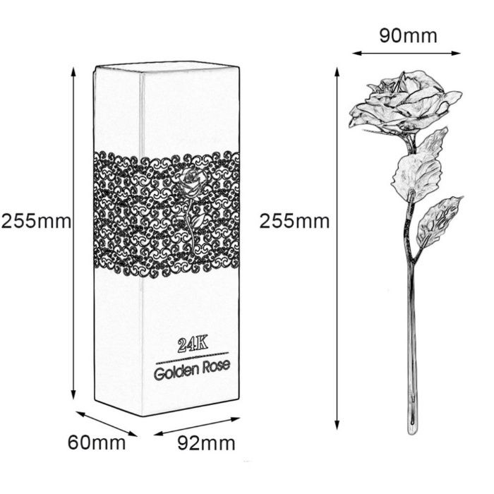 Trandafir suflat Aur / Gold 24k aur cadou perfect Sotie / Fete / Femei Bucuresti - imagine 5