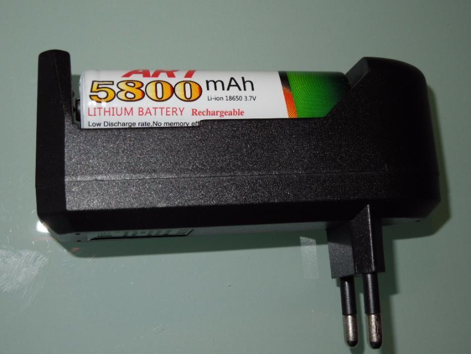 Incărcător Pentru Laser, Lanterna + Acumulator Marca ART 18650 5800mAh