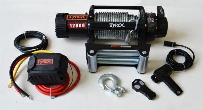 Troliu auto heavy-duty Tyrex 12000lbs - cablu de otel