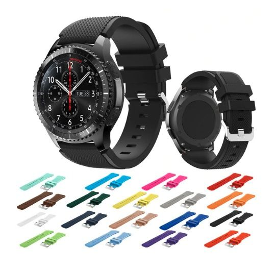 Curea de silicon pt smartwatch Samsung Galaxy Gear S3 Classic Frontier