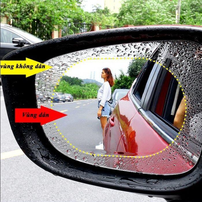 2 броя защитно фолио мъгла и дъжд за огледалата за задно виждане на ав