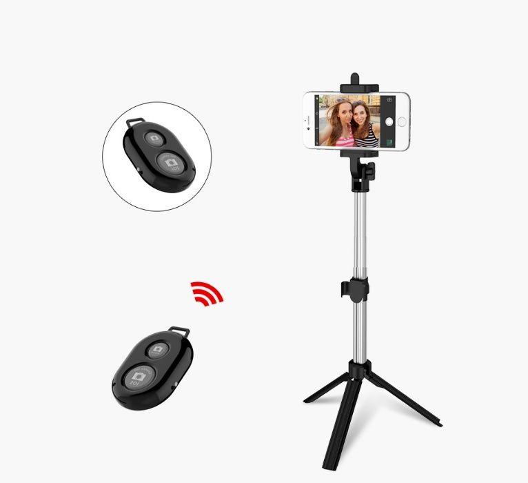 Селфи стик, selfie stick, Трипод с Bluethoot - 75см, телескопичен, 36