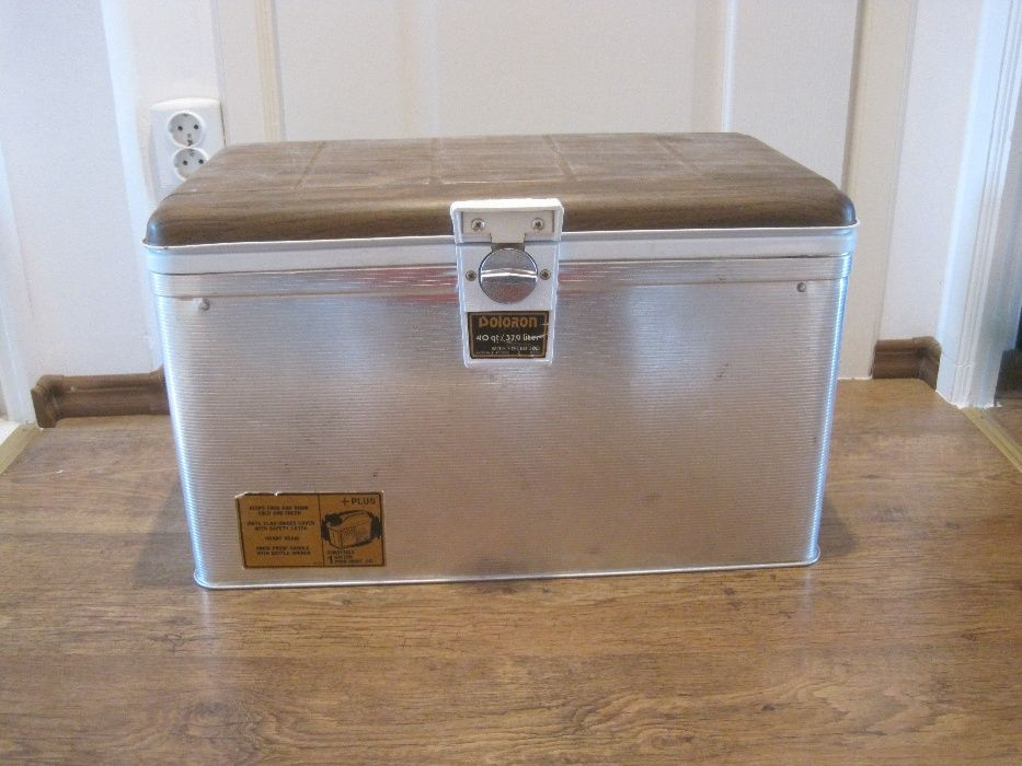 VINTAGE 1960 USA Beer Picnic Cooler POLORON THERMASTER Aluminium Ice