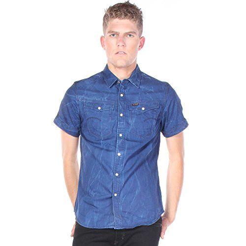 Дънкова риза G star raw denim с къси ръкави, 100% оригинал