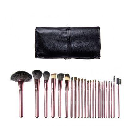 Set 18 pensule make-up par natural Megaga/ pensule machiaj