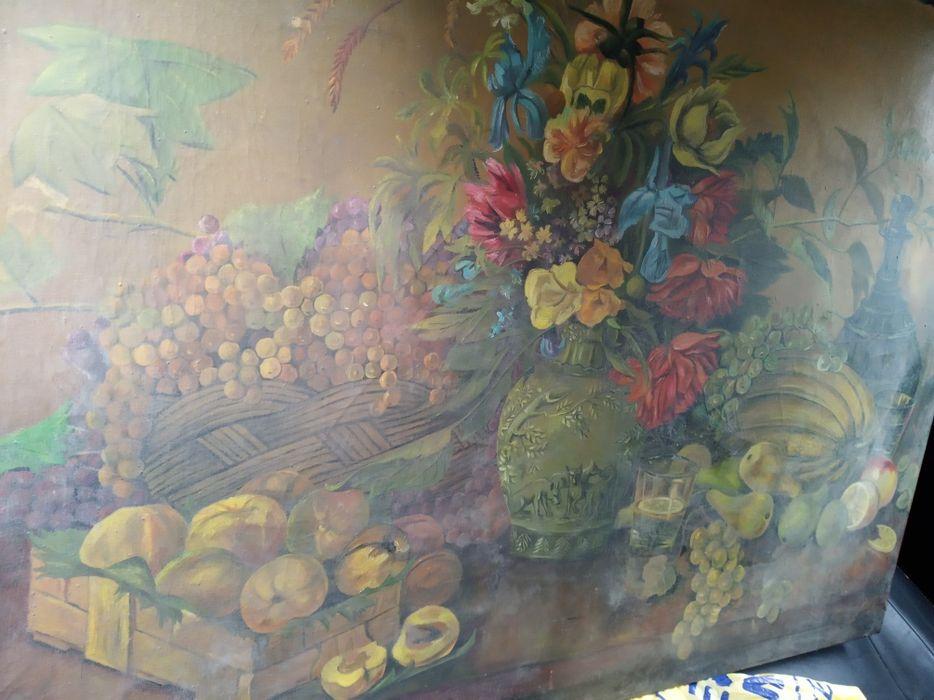 Tablou mare, pictură ulei pe pânză, semnat, datat