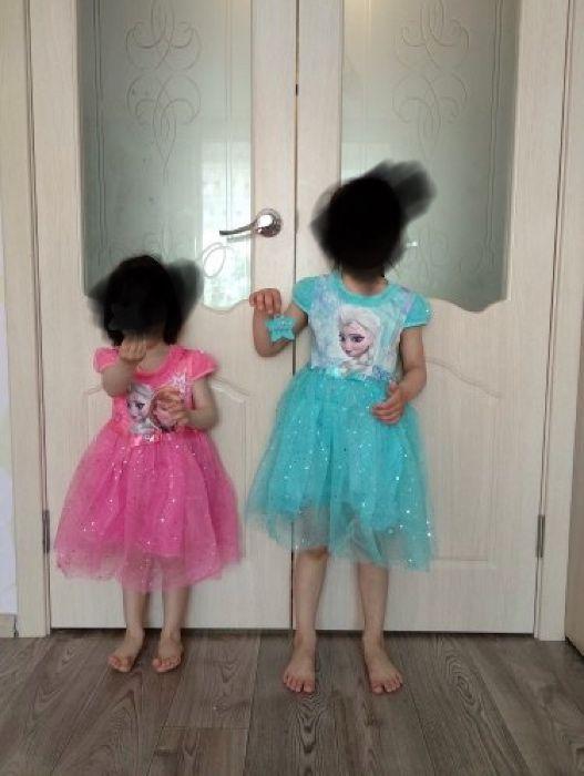 Rochita noua Elsa Ana Frozen roz si bleu fetite 89 lei 110,120,130