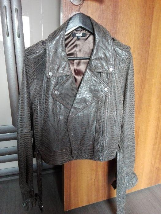 Кожено яке и яке с гъши пух с естествена кожена качулка