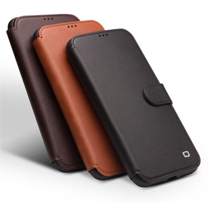 Husa piele naturala Qialino, iPHONE X / XS, magnetica, protectie 360