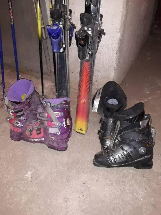 Продавам изгодно два супер комплекта ски+щеки и обувки