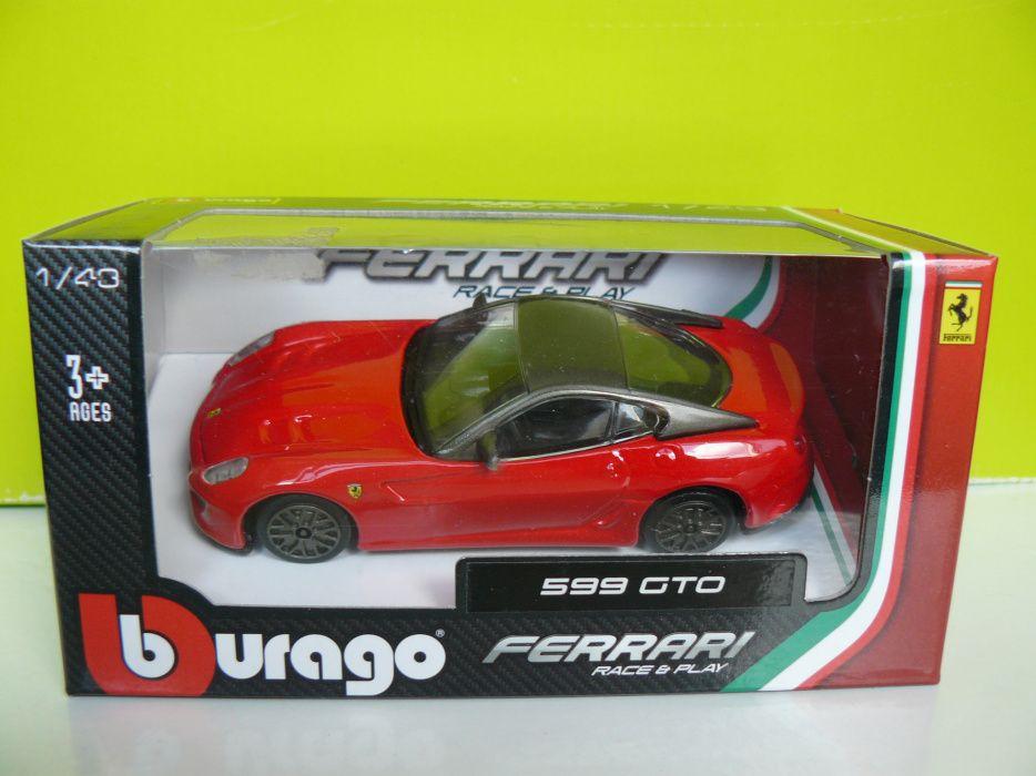 """Macheta Auto """"FERRARI 599 GTO"""" Noua, Metalica,Bburago,1/43"""