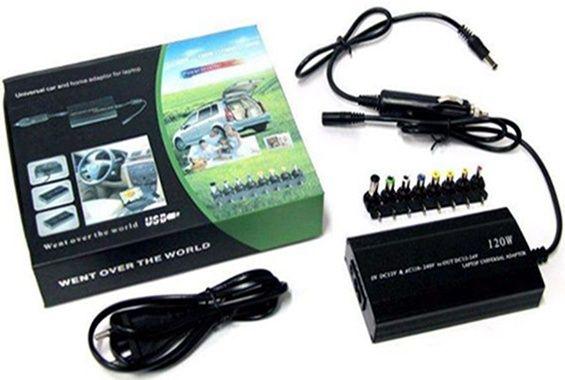 Автомобильная адаптер-зарядка-блок питания на разные ноутбуки и для к