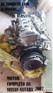 Venda motor da Nissan Navara
