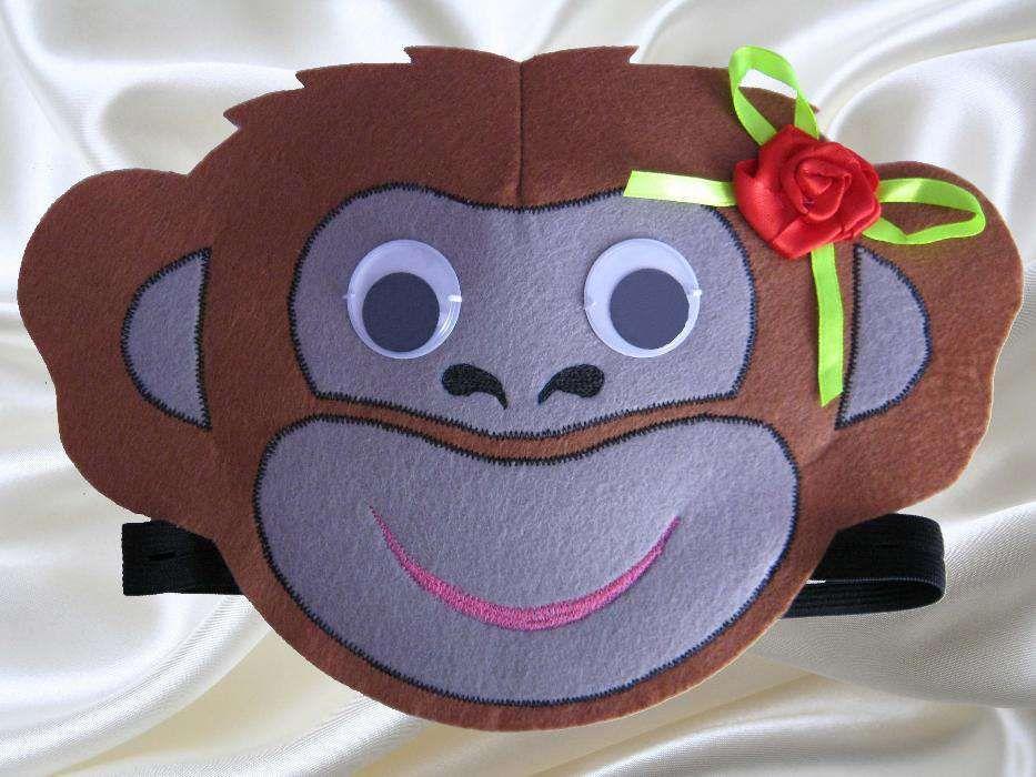Карновальная маска обезьянки.