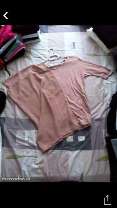 Vând bluzita roz prăfuit, asimetrica, mărimea s, noua