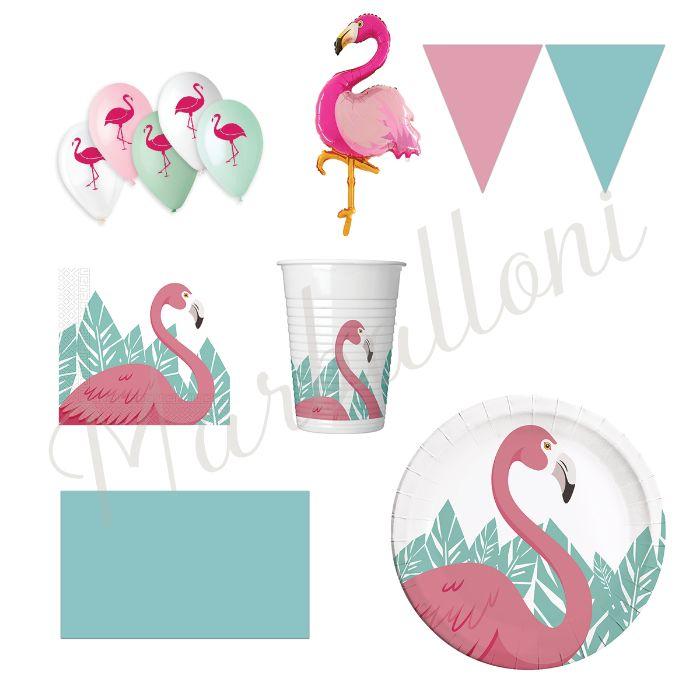 Парти Артикули за Рожден Ден Фламинго, Украса за Парти Фламинг Парти