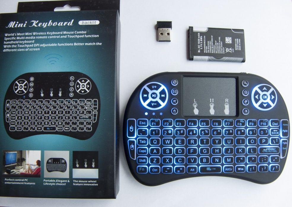 Безжична клавиатура с тъчпад мишка за смарт телевизор с LiOn батерия