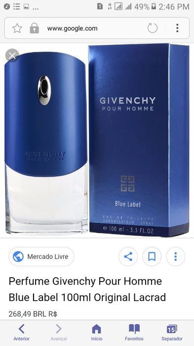 Perfume Givenchy Blue Label Cidade de Matola - imagem 4