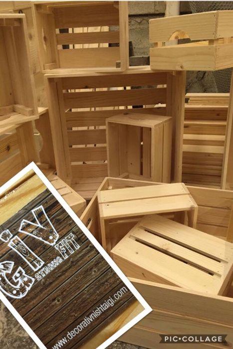 Дървени касетки, щайги