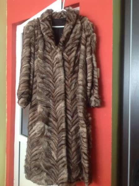 продавам кожено палто от лисица