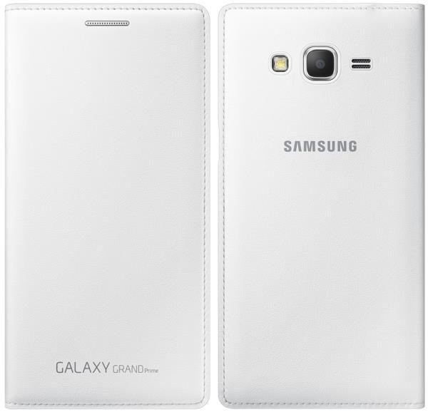 Samsung Galaxy Grand Prime G530 Husa Piele EF-WG530BW Alba Neagra