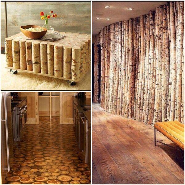 Rondele din lemne și mesteacăn decorativ
