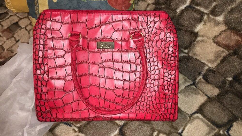 Set geanta si portofel dama, nou