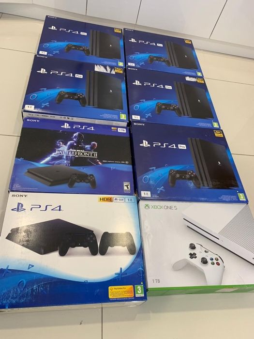 PS4 1TB com Battlefront 2 Selados Entregas e Garantias de um ano
