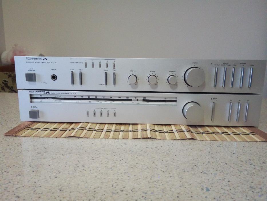Amplificator Pathe Marconi Stereo PA-3517 V si tunerul lui T-3017 V