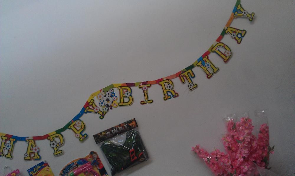 banner onomastica happy birthay 2 m, 5 modele, 1 leu la set de 100 buc