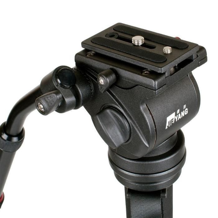 JY0506H Fluid Drag Video Tripod Head Flat Base ( 6Kg ),cap video fluid