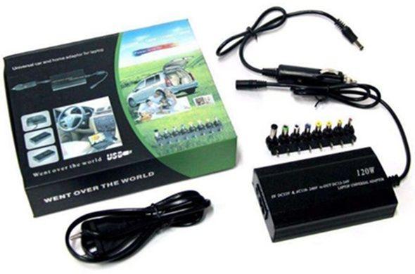 Адаптор Автомобильная зарядка-блок питания на разные модели ноутбуков