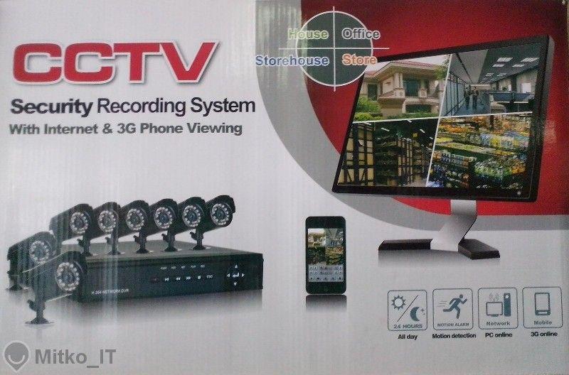 Комплект 8 камери и Dvr - За видео наблюдение