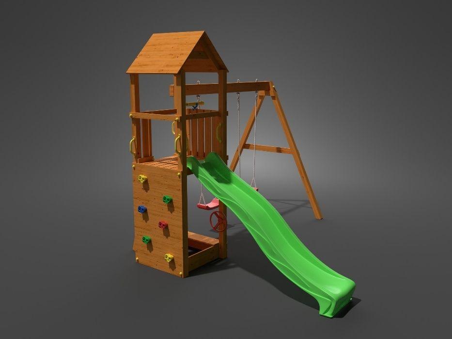 Fungoo FLAPPI дървена детска площадка с пързалка и 2 люлки гр. София - image 3