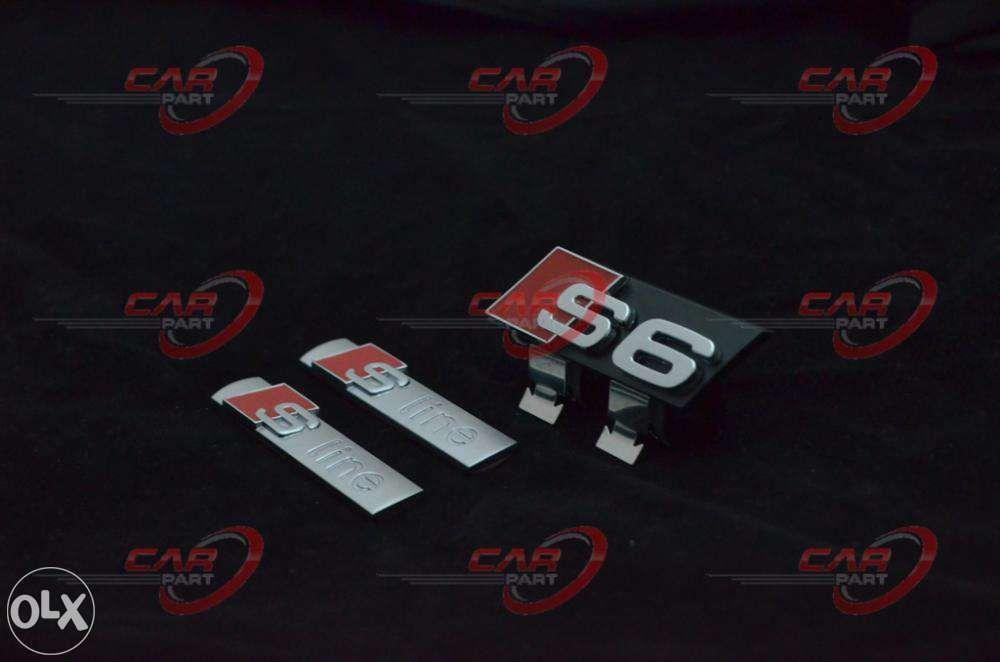 Set Embleme Audi S6 (3buc)