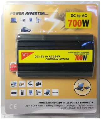 Invertor De Tensiune, 12V → 220V - 700W + 5V, USB