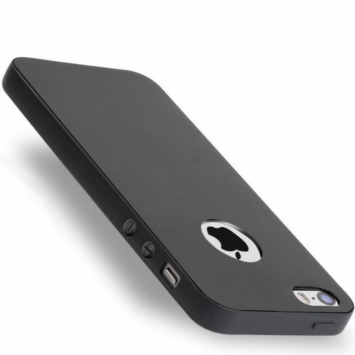 Iphone 5 5S SE - Husa Subtire 0.3mm Silicon Negru