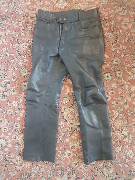 pantaloni piele -moto- pt barbati