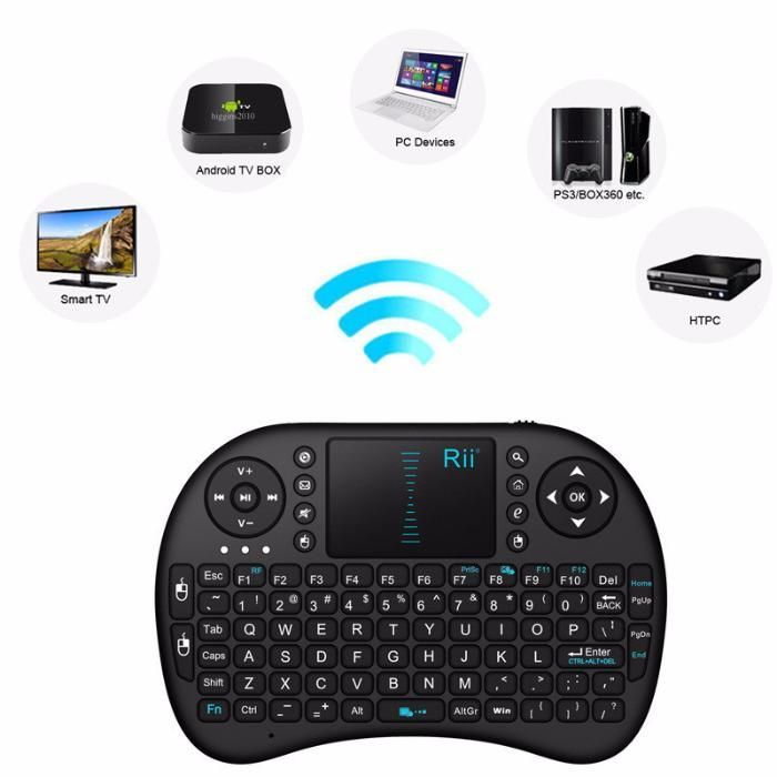Rii mini i8 Wireless Keyboard 2.4G with Touchpad for PC android TV