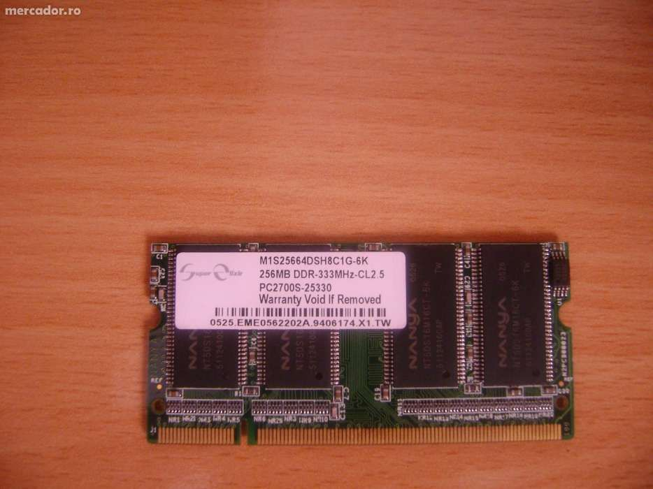 Memorii laptop DDR 1 si DDR 2- 256, 512