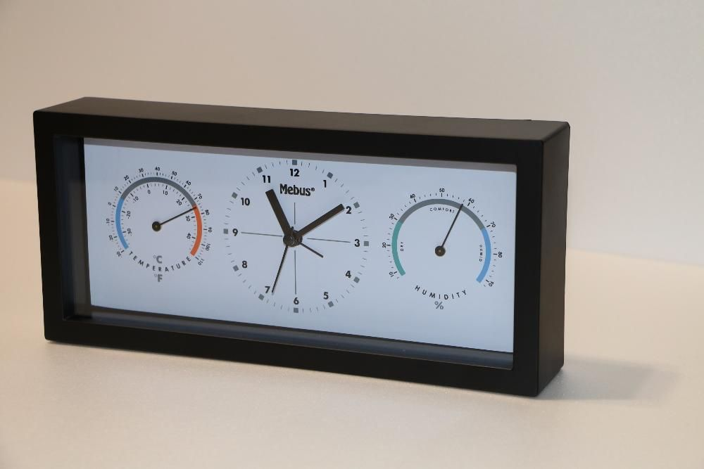 влагомер, термометър и часовник Mebus, нов, немски,закупен от Германи