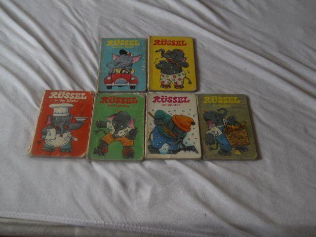 Set Russel 6 carti cartonate cu poze copii 1-3 ani Germania 1989-1990