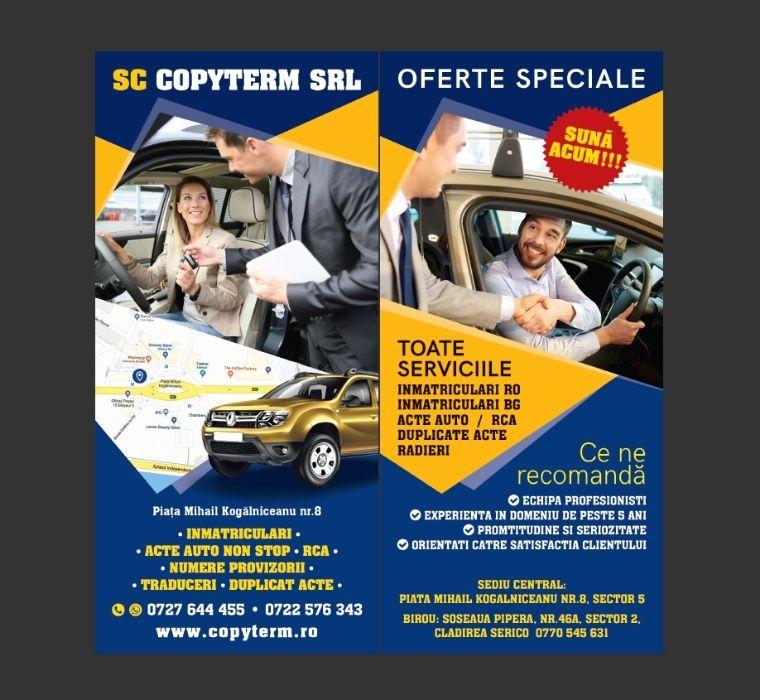 Acte auto non stop-servicii inmatriculare auto