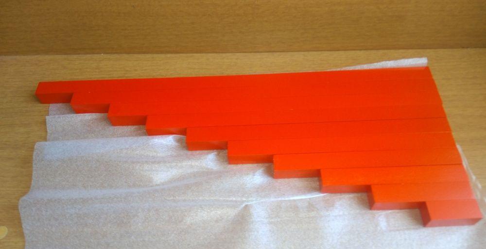 Монтесори Дървени Числови Летви синьо-червени пръчки стикове гр. Бургас - image 8